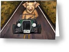 Road Hog Greeting Card