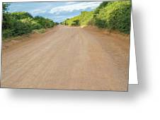 Road In Tanzania Greeting Card