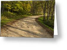 Road In Woods Autumn 3 A Greeting Card