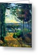 Road Leading To The Lake, By Paul Cezanne, Circa 1880, Kroller-m Greeting Card