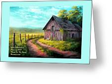 Road On The Farm Haroldsville L A Greeting Card