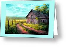 Road On The Farm Haroldsville L B Greeting Card
