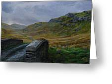 Road Over Donegal Bridge Greeting Card