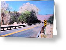 Road Over The Wash Greeting Card