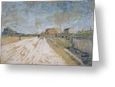 Road Running Beside The Paris Ramparts Paris, June - September 1887 Vincent Van Gogh 1853  1890 Greeting Card