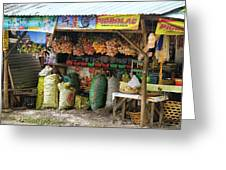 Road Side Store Philippines Greeting Card
