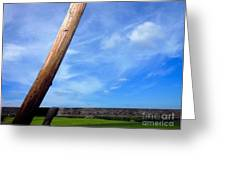Road Side View Of Countryside Greeting Card
