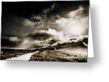 Road Storm Greeting Card
