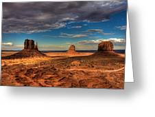 Road Through Monument Valley Greeting Card