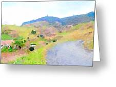 Road Through The Village Greeting Card