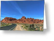 Road Through Valley Of Fire  Greeting Card