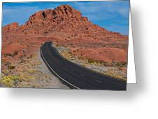Road Through Valley Of Fire, Nv Greeting Card