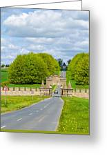 Road To Burghley House-vertical Greeting Card