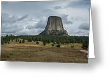Road To Devils Tower Panorama Greeting Card