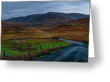 Road To Glenveagh Greeting Card