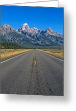 Road To Grand Teton National Park Greeting Card