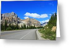 Road To Jasper Greeting Card