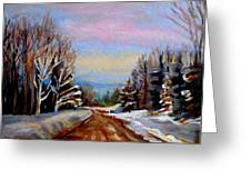 Road To Knowlton Quebec Greeting Card