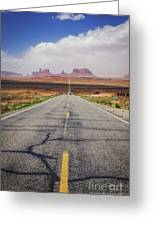 Road To Monument Valley Greeting Card
