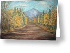 Road To Mountain Greeting Card
