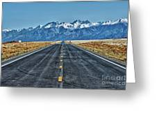 Road To Mountains Greeting Card