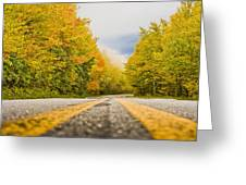 Road To Mt. Mitchell Greeting Card