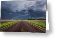 Road To Nowhere - Rainbow Greeting Card