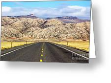 Road To Owl Creek Mountains Wyoming Greeting Card