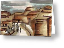 Road To Petra Greeting Card