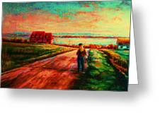 Road To Red Gables Greeting Card
