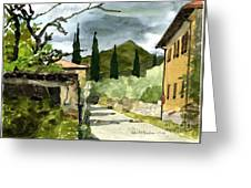Road To Reggello Greeting Card