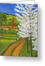 Road To Schollkrippen Greeting Card by Anna Folkartanna Maciejewska-Dyba