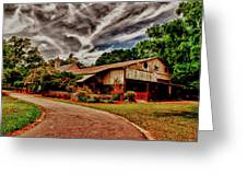 Road To Shiloh Farm's Barn Greeting Card