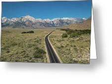 Road To Sierra  Greeting Card