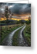Road To The Sunset Greeting Card