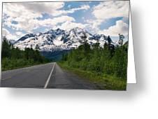 Road To Valdez Greeting Card