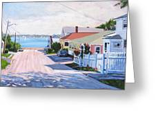 Road To Wessagussett Greeting Card