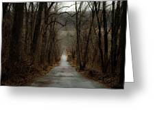 Road To Wildlife Greeting Card