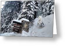 Road To Yosemite National Park Greeting Card