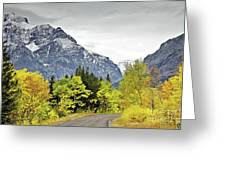 Road Too Autumn Greeting Card