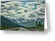 Road Travel Alaska Color  Greeting Card
