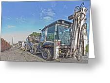 Road Work Machines Hdr Greeting Card