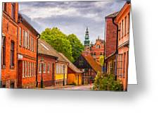 Roads Of Lund Digital Painting Greeting Card