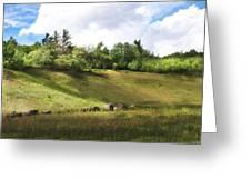 Roadside Hill Greeting Card