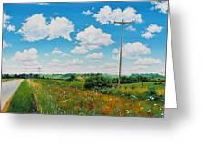 Roadside Prairie Greeting Card