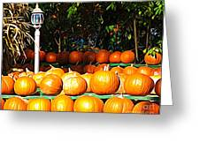 Roadside Pumpkin Stand Expressionist Effect Greeting Card
