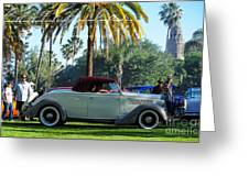 Roadster At The Castle Greeting Card