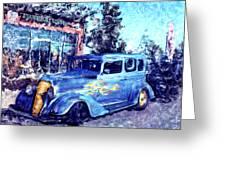 Roadster In Polaroid Greeting Card