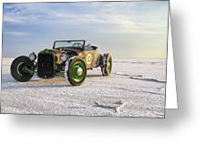 Roadster On The Salt Flats 2012 Greeting Card by Holly Martin