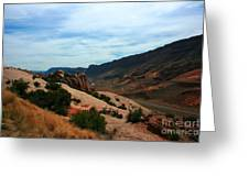 Roadway Rock Formations Arches National Park Greeting Card